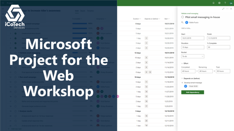 Microsoft Project for the Web Workshop 1