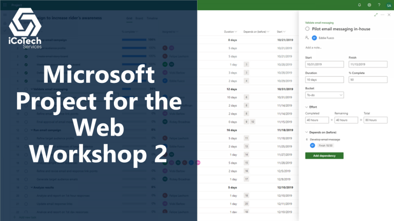 Microsoft Project for the Web Workshop 2