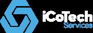 iCoTech Services Logo - Horizontal - White Text